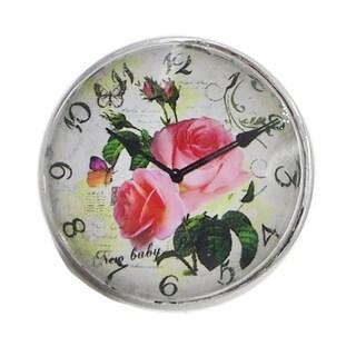 Rose Clock Glass Drawer/ Door/ Cabinet Pull Knob (Pack of 6)