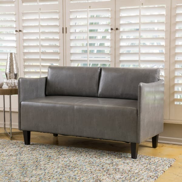 Awesome Shop Nyx Modern Faux Leather Upholstered Loveseat By Creativecarmelina Interior Chair Design Creativecarmelinacom