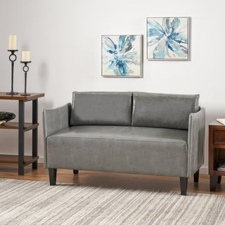 Cayo Faux Leather Loveseat Sofa by Christopher Knight Home