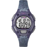 Timex TW5M075009J Ironman Classic 30 Women's Purple and Grey Resin Mid-size Strap Watch