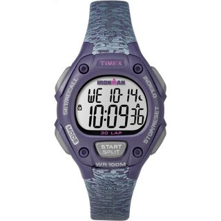 Timex Ironman Classic 30 Women's Purple and Grey Resin Mid-size Strap Watch