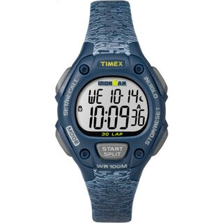 Timex Women's Ironman Classic 30 Blue Resin Strap Mid-size Watch