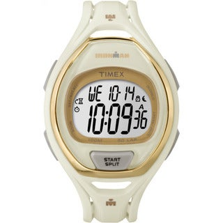 Timex TW5M061009J Ironman Sleek 50 Hollywood White/Goldtone Resin/Acrylic/Stainless Steel Full-size Unisex Strap Watch