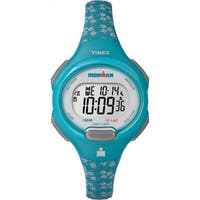 Timex Women's TW5M072009J Ironman Essential 10 Teal/Grey Resin Mid-size Strap Watch - black
