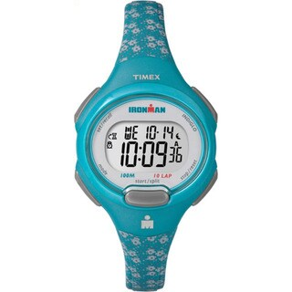 Timex Women's TW5M072009J Ironman Essential 10 Teal/Grey Resin Mid-size Strap Watch