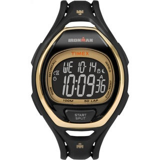 Timex TW5M060009J Ironman Sleek 50 Hollywood Black/Goldtone Resin/Acrylic/Stainless Steel Full-size Unisex Strap Watch