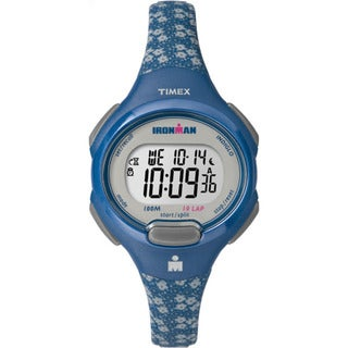 Timex TW5M071009J Ironman Essential 10 Women's Blue and Grey Resin Mid-size Strap Watch