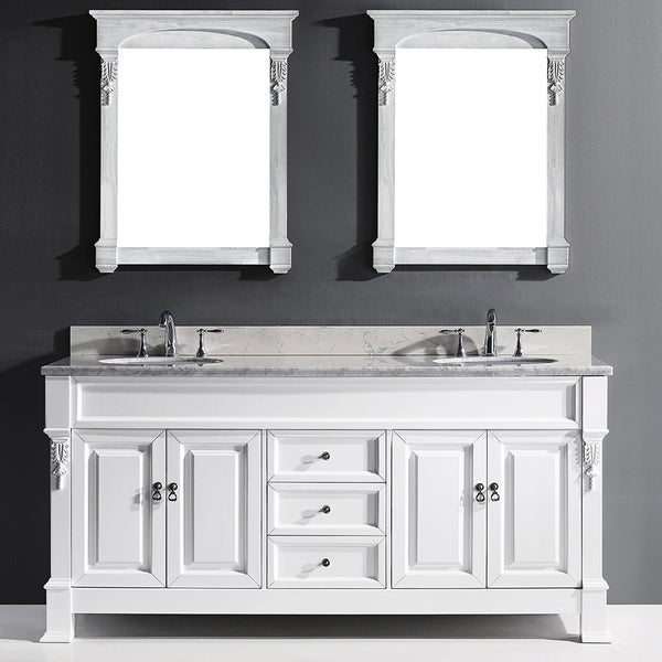 Huntshire 72 Double Bathroom Vanity Cabinet Set In White Free Shipping Today