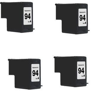 4PK Compatible C8765WN (HP 94) Ink Cartridge For HP Deskjet 5740 6540 6840 OfficeJet 6210 7310 7410 ( Pack of 4 )