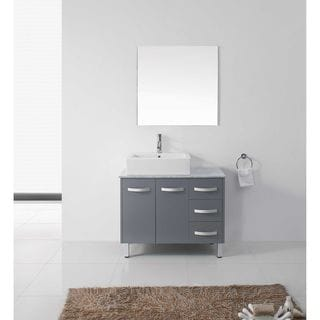 "Tilda 36"" Single Bathroom Vanity Cabinet Set in Grey"