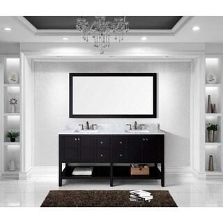 Virtu USA Winterfell 72-inch Double Bathroom Vanity Set w/ Faucet Options