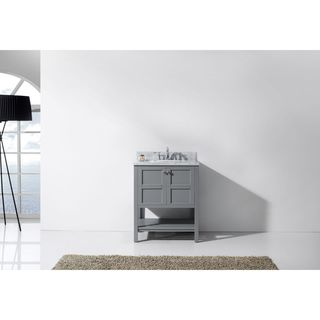 Virtu USA Winterfell 30-inch Single Bathroom Vanity Set in Grey