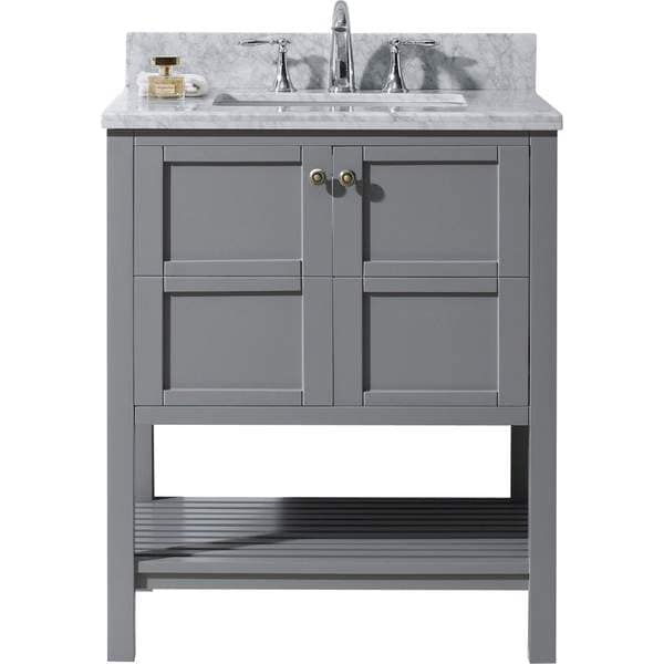 Bathroom Vanities 30 Inch virtu usa winterfell 30-inch single round bathroom vanity set
