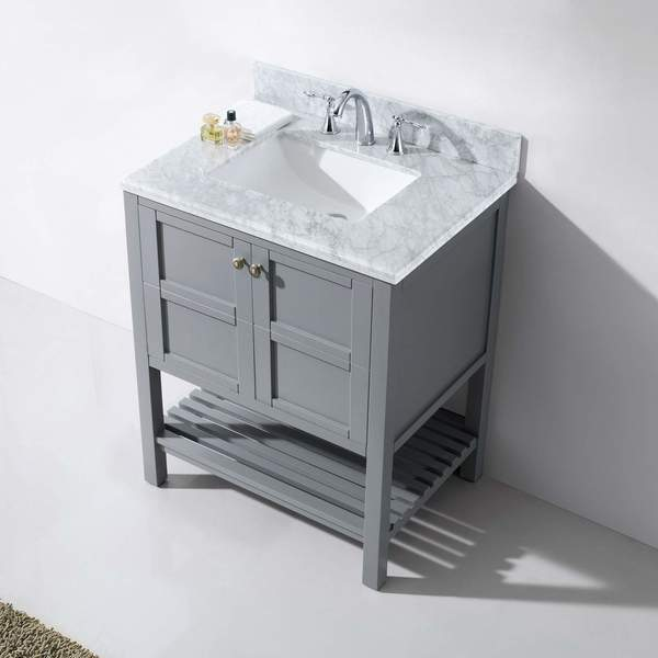 Virtu USA Winterfell 30 Inch Single Round Bathroom Vanity Set Without  Mirror   Free Shipping Today   Overstock.com   18871092