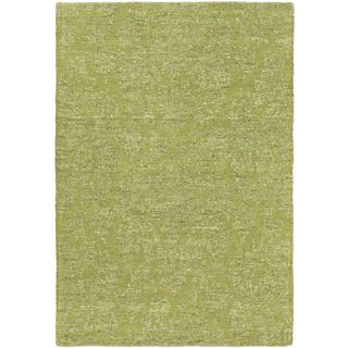 eCarpetGallery Javier Green/Light Green Polyester Handmade Rug (3'11 x 5'11)