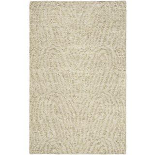eCarpetGallery Javier Grey Handmade Polyester Rug (4'11 x 7'10)