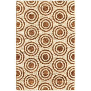 eCarpetGallery Javier Blue/Brown Polyester Handmade Rug (3'11 x 5'11)