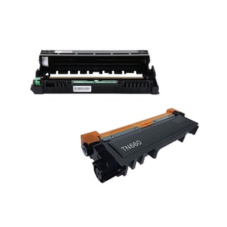 2 Pack Compatible TN660 Toner Cartridge DR630 Drum Cartridge For Brother HL-L2300D HL-L2305W HL-L2320D ( Pack of 2 )