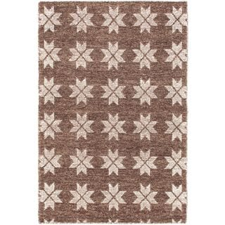 eCarpetGallery Javier Brown and Ivory Polyester Handmade Rug (3'11 x 5'11)