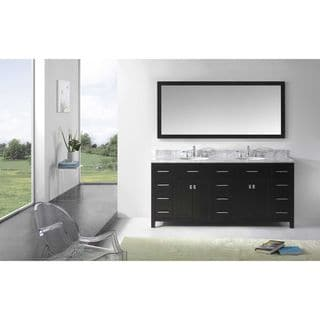 Virtu USA Caroline Parkway 72-inch Round Double Bathroom Vanity Set with Faucets