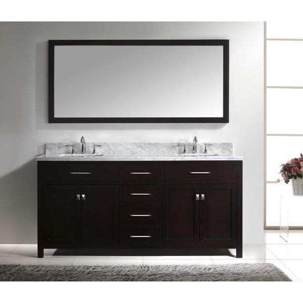 Prime Shop Virtu Usa Caroline 72 Inch Square Double Bathroom Home Interior And Landscaping Eliaenasavecom