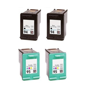 4PK Compatible 2 x C8765WN (HP 94) and 2x C8766WN (HP 95) Ink Cartridge For HP Deskjet 5740 6540 6840 ( Pack of 4 )