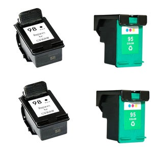 4PK Compatible 2 x C9364W (HP 98 ) and 2x C8766WN (HP 95) Ink Cartridge For HP Deskjet 5740 6520 6540( Pack of 4 )