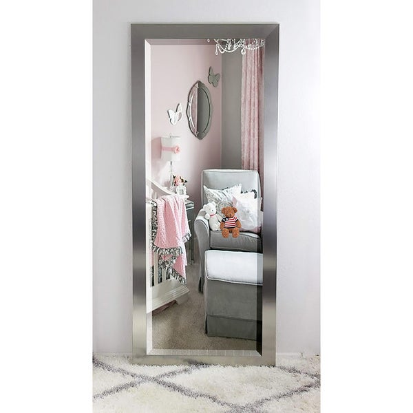 American Made Rayne Oversized Silver Floor/ Vanity Mirror