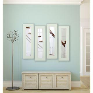 American Made Delta White Panel Mirrors