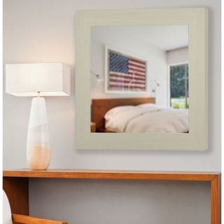 American Made Rayne Arctic Ivory Square Wall/ Vanity Mirror