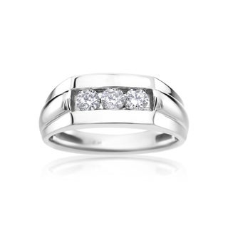 SummerRose Men's 14k White Gold 1/2ct Diamond Ring