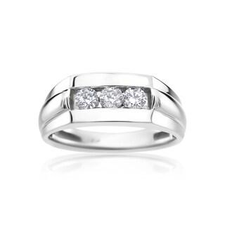 SummerRose Men's 14k White Gold 1/2ct Diamond Ring