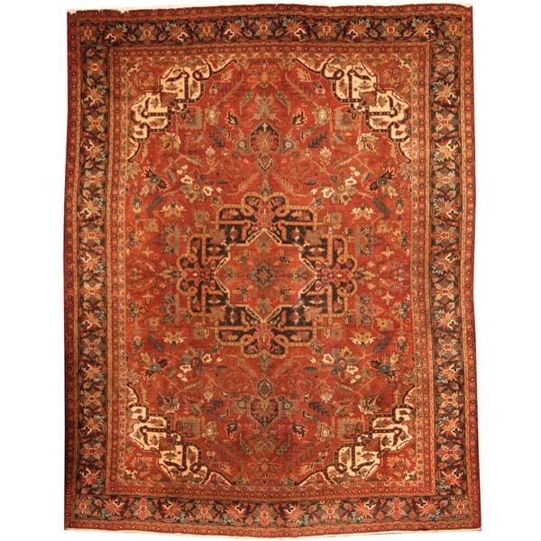 5 X 6 Vintage Kazak Persian Oriental Wool Hand Knotted: [Handmade] Herat Oriental Persian Hand-knotted 1940s Semi