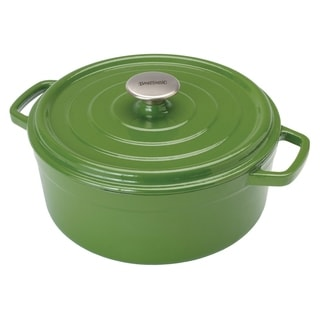 Bayou Classic Green Cast Iron 5-quart Enameled Dutch Oven