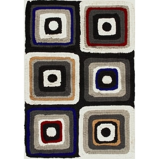 eCarpetGallery Eternity Cotton/Wool Bold Handmade Rug