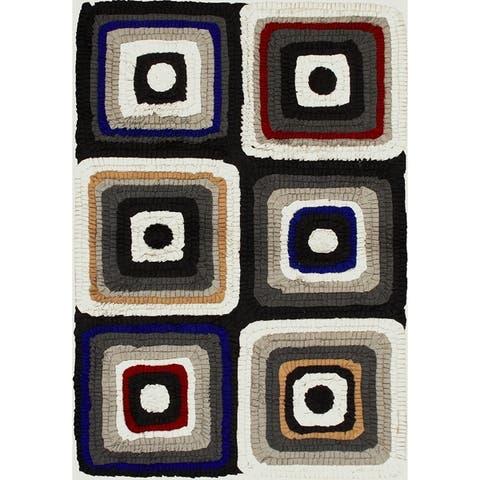 eCarpetGallery Eternity Cotton/Wool Bold Handmade Rug