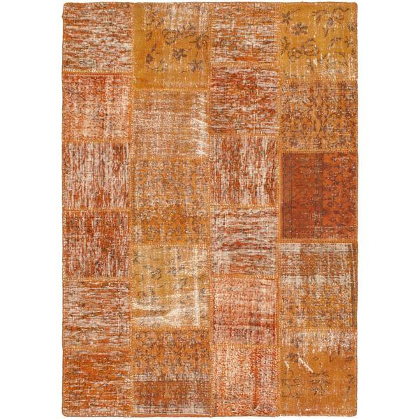 eCarpetGallery Ottoman Yama Patchwork Orange Wool Handmade Rug (5'7 x 7'11) - 5'7 x 7'11