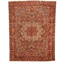 Handmade Herat Oriental Persian 1940s Semi-antique Tribal Bakhtiari Brown/ Rust Wool Rug  - 10' x 13'1 (Iran)