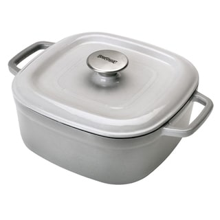 Bayou Classic Grey Enamel Cast Iron 5-quart Dutch Oven