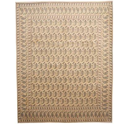 Handmade One-of-a-Kind Kashan Wool Rug (Iran) - 10' x 12'8