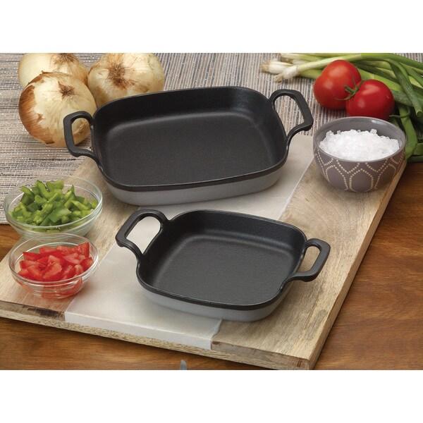 Bayou Classic Grey Cast Iron 6-inch Enameled Baking Dish