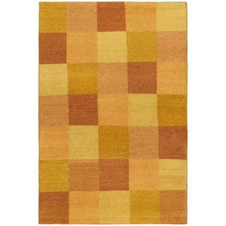 eCarpetGallery Indian Gabbeh Ivory Wool Hand-knotted Rug (4'0 x 5'10)