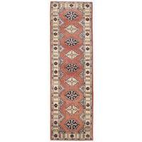 Handmade Herat Oriental Afghan Kazak Wool Runner  - 2'8 x 8'10 (Afghanistan)