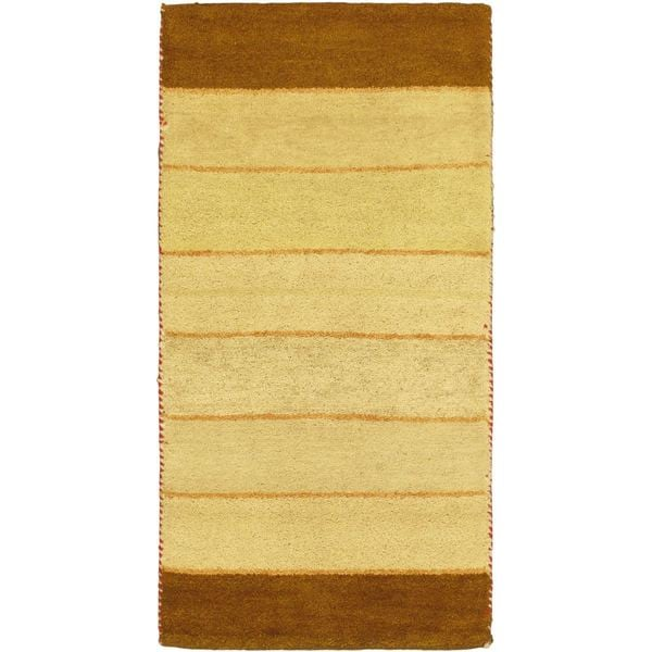eCarpetGallery Indian Gabbeh Ivory/Beige Cotton and Wool Hand-knotted Rug (2'4 x 4'7)