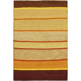 eCarpetGallery Indian Gabbeh Ivory Wool Hand-knotted Rug (4' 0 x 6' 0)