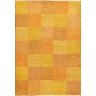 eCarpetGallery Indian Gabbeh Brown Wool Hand-knotted Rug (4' x 5'10)