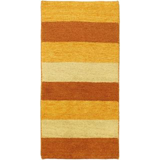 eCarpetGallery Indian Gabbeh Ivory Wool Hand-knotted Rug (2' 5 x 4' 8)