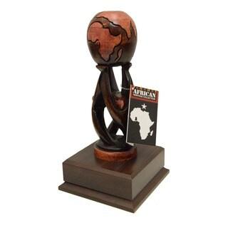 "Handmade Multicultural ""Unity Globe"" Art Sculpture (Ghana)"