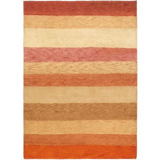 eCarpetGallery Ivory Wool Hand-knotted Indian Gabbeh Rug (4'9 x 6'7)