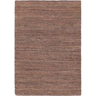 eCarpetGallery Silky Allure Brown/Black Wool and Viscose Kilim Handwoven Rug (4'8 x 6'8)